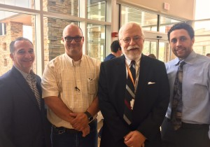 Angelo Martini, Jr.; Charles Brandl; Excela Health's David Byers, Director of Support Services and Safety; Mike Larson-Edwards, Project Manager, A. Martini & Co.