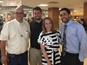 Chuck Brandl, Brian Swain, Emily Landerman, and Mike Larson-Edwards