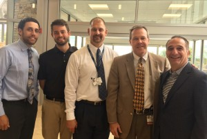 Mike Larson-Edwards; Brian Swain; Excela Health's Scott Koscho, VP of Support Services; Dr. William A. Jenkins, Dr. of Department of Emergency Medicine; Angelo Martini, Jr., COO